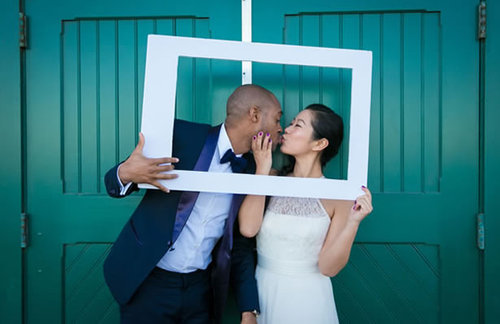 Friendly tucson bride and groom